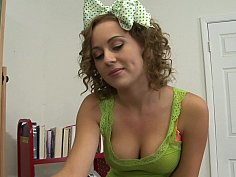 Petite naughty bookworm Mae Meyers