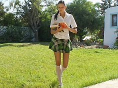 Schoolgirl giving head