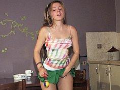 Emily showing her panties