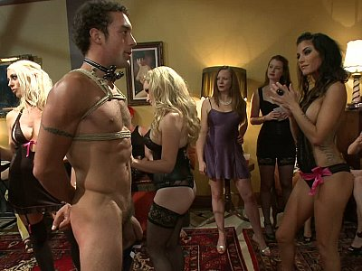 40 women join Maitresse Madeline to submit a guy