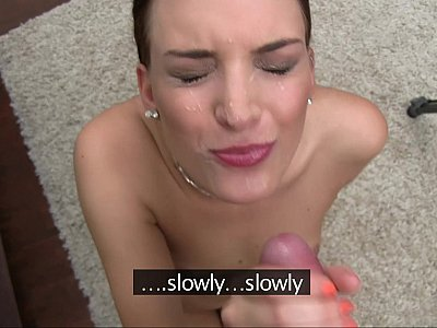 Casting ends with facial cumshot