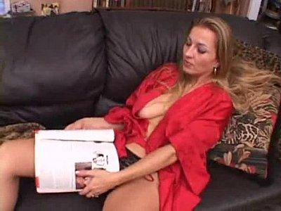 Blonde housewife getting black cock