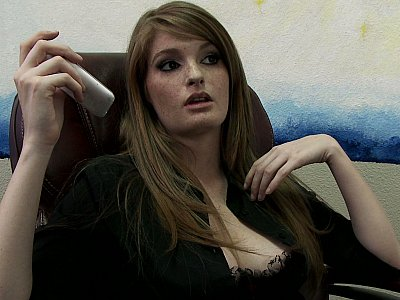 Sexy agent gets pounded