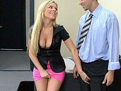 Super sexy blonde Ahryan Astyn gets done