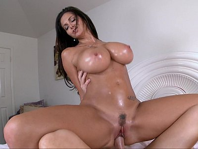 Big titted Ava Addams eating cum