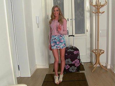 Long legged Latvia girl Lolly Gartner