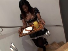 Fucking his maid for breakfast