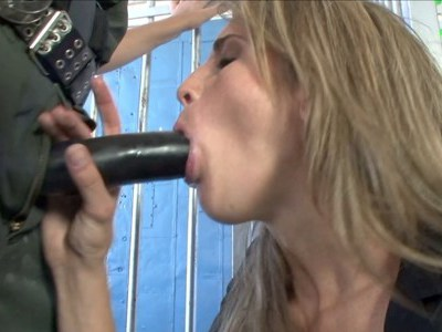 Kara Price sucking military cock