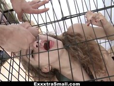 Caged teen gets a treat