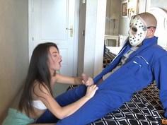 Firecracker Alicia manhandled