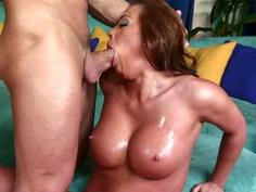 Creampie for naughty Mia