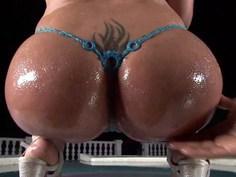 Worshipping her fat ass