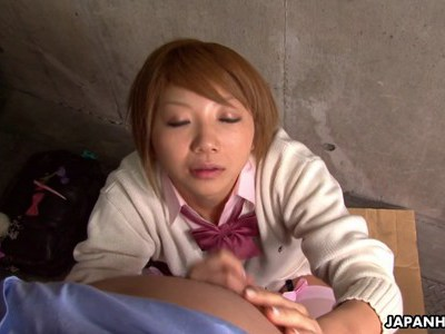 Asian cutie is wanking off her fav step uncle