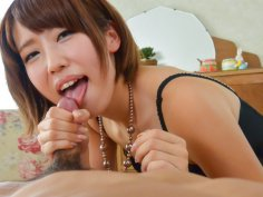 Seira Matsuoka goes nasty on cock with her feet