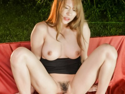 Big tits Nami Itoshino is about to have her pussy nailed