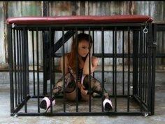 Dani Jensen. Redhead gets tied up.