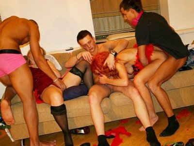 Christmas party ended with an orgy cumshots