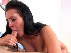 Nothing can stop this slut from sucking your cock dry