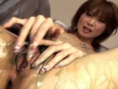 Rika Sakurai in group sex scene with toys/men