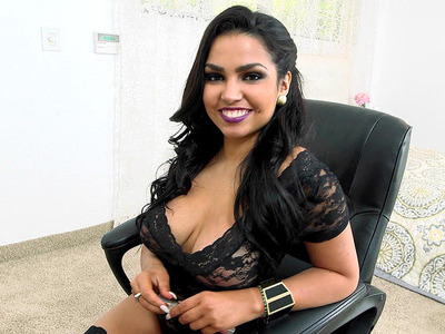 Cuban chick Ada Sanchez showing off her enormous breasts