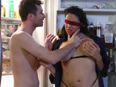 Big titted Missy Martinez has fun with the lucky guy in the kitchen