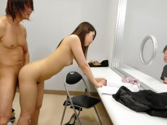 Hikaru Matsu moans while riding a stiff boner