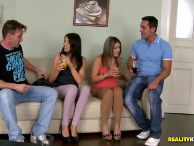 They swapped cocks to make the party much more exciting
