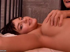 Varvara inserts her fingers deep inside Adina's asshole