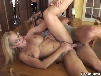 Heidi Mayne is pounding on big throbbing dick