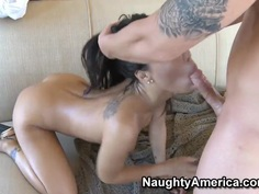 Hot Asa Akira and Jenner have wild lickign session