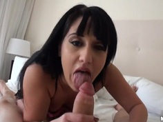Superb Sucking latina brunette Gina Marie