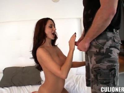 Enhanced boobs of milf Ava Addams provoke her boyfriend for a tough sex