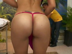 Massing Angie's ass is a real happiness