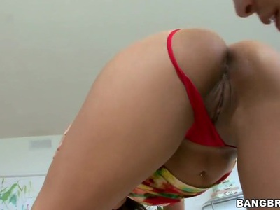 Hot milf Gisselle is taught fucking tricks!