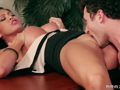 James Deen forces his boss-cock into Mia Lelani