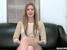 Amateur Casana Lei fucks at the interview