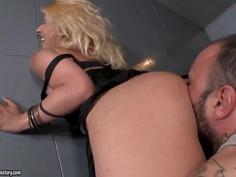 Ivory Bell fucks hardcore with dirty prisoner