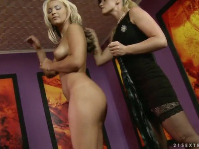 Kathia Nobili and Lana S having bondage fun
