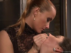 Incredible Jesika Gold getting tied and penetrated by her friend