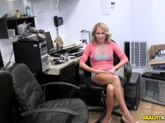 Nasty guy has hunted the beautiful blonde milf