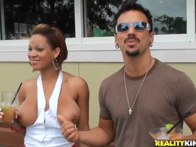 Big boobed Natasha Dulce is posing on camera