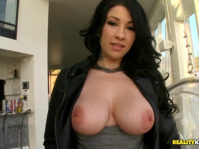 Angel Blaze enjoys hot sex with big cock boyfirned Voodoo