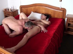 Yasmine in a guy gets young blowjob from an amateur girl in a car