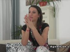 Fake agent bangs nice ass brunette amateur babe