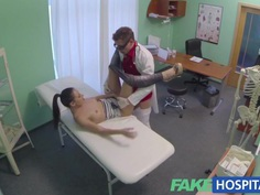 FakeHospital Sexy British patient swallows doctors word