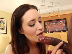Kimberly Kane wraps her lips round this huge prick