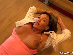 Mature latina MILF sucks and fucks POV