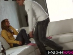 Blonde babe Alyssa Branch takes loads of internal cumshots
