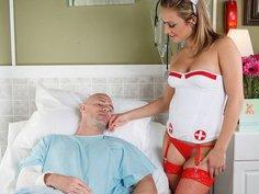 Nurse Leigh, Cock Stalker