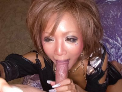 Riku Hinano has her big nipples eaten and her pussy banged